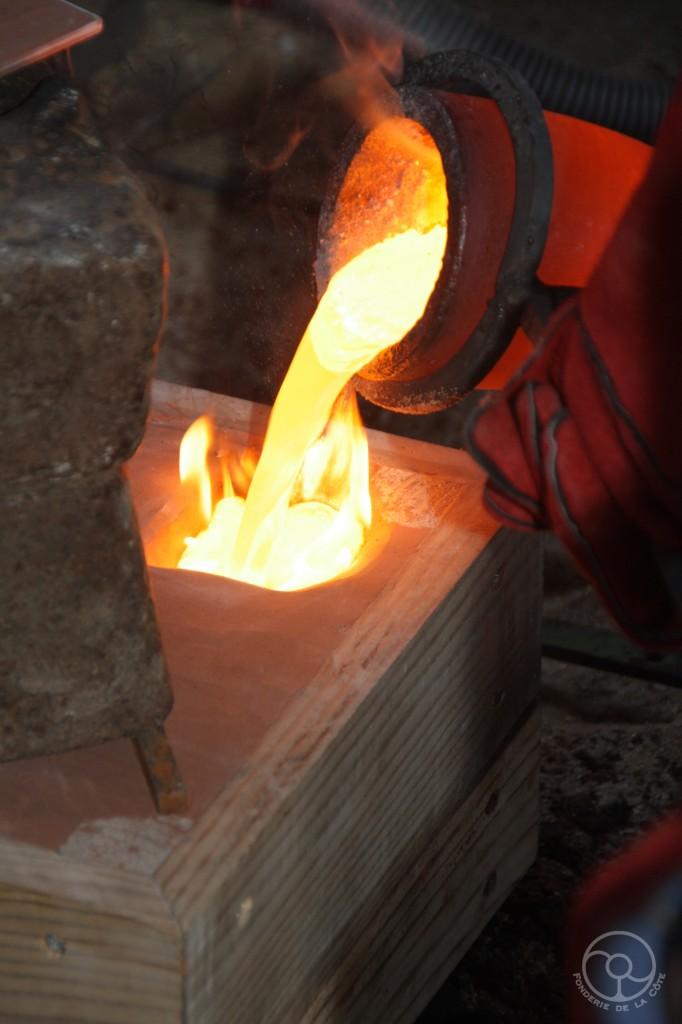 Coulée de cupro-aluminium 90-10 -- 3kg -- 1100°C