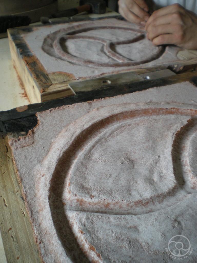 Deux demis-moules -- préparatifs final avant remmoulage